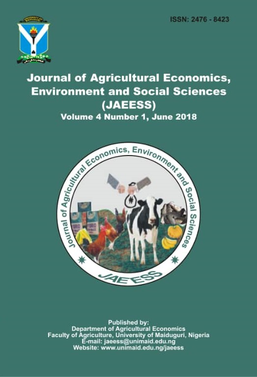Journal of Agricultural Economics, Environment and Social Sciences